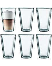 BODUM Canteen Glassware, 13.5-Ounce, Chrome