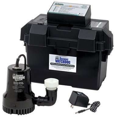 Basement Watchdog BWSP 1730 Gallons Per Hour Basement Watchdog Special Back-Up Sump - Pump System Automatic Backup Sump