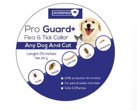 SilverShield Flea and Tick Collar for Dogs Cats, 6 Month (6 Month Frontline Top)