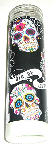 Day of the Dead Candle in Glass Holder 8