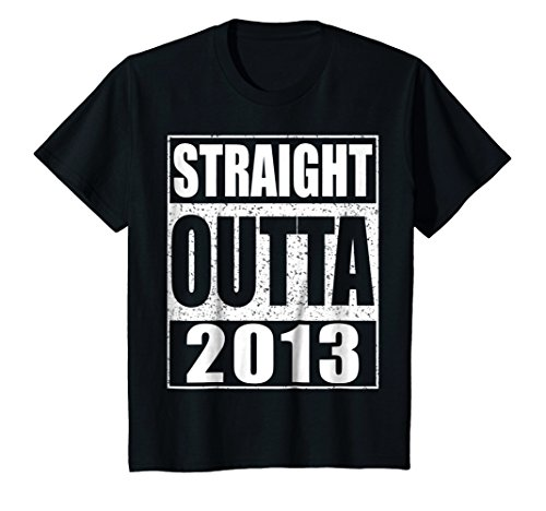 Kids Straight Outta 2013 T-Shirt Funny 5th Birthday Gift Shirt 4 (5th Birthday Toddler T-shirt)