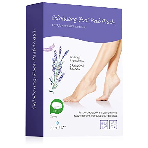 2 Pairs Foot Peel Mask Exfoliant for Soft Feet in 1-2 Weeks, Exfoliating Booties for Peeling Off Calluses & Dead Skin, For Men & Women Lavender by Bea Luz ()