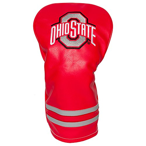 Team Golf NCAA Ohio State Buckeyes Vintage Driver Golf Club Headcover, Form Fitting Design, Retro Design & Superb Embroidery