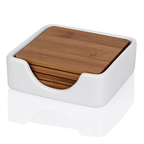 sweese-coasters-for-drinks-set-of-4-bamboo-coasters-with-porcelain-holder