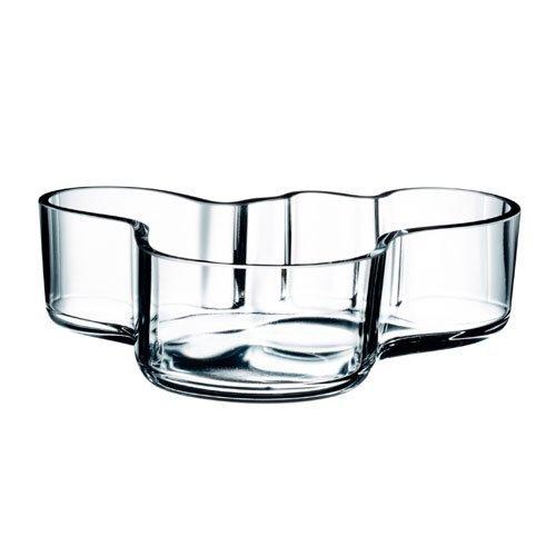 - Iittala Alvar Aalto Bowl, Clear, 7-1/2 by 2-Inch by Iittala