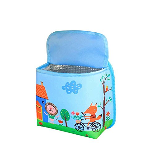 egal-portable-hanging-foldable-car-trash-can-bin-auto-cartoon-design-multi-function-insulated-storage-bag-bucket-lion-and-fox