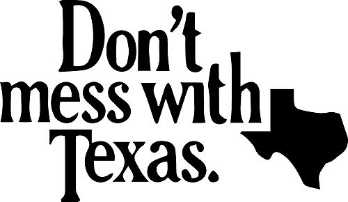 ANGDEST Dont Mess with Texas (Black) (Set of 2) Premium Waterproof Vinyl Decal Stickers for Laptop Phone Accessory Helmet Car Window Bumper Mug Tuber Cup Door Wall Decoration