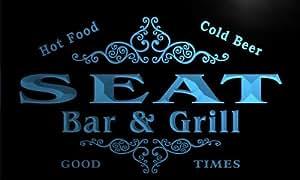 u40365-b SEAT Family Name Bar & Grill Home Decor Neon Light Sign