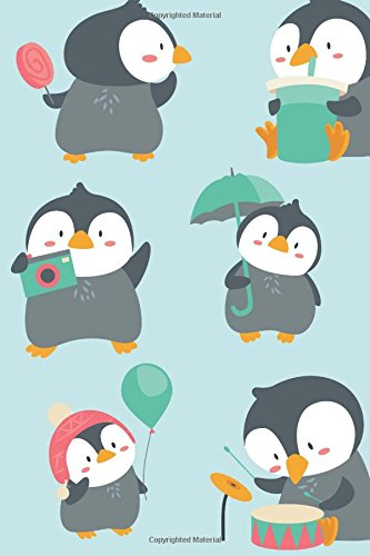 Cute Penguin Journal: Medium College Ruled Notebook With Illustrated Cover ebook