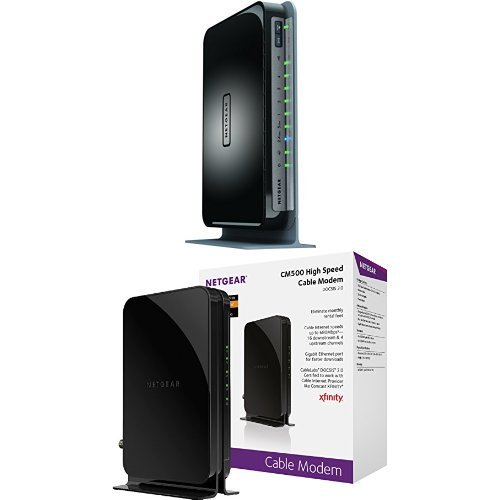 NETGEAR N750 Dual Band 4 Port Wi-Fi Gigabit Router (WNDR4300) Bundle with CM500 (16x4) Cable Modem DOCSIS 3.0 Certified for Comcast XFINITY, Time Warner Cable, Cox, Charter & more