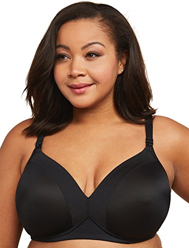 Image of the Motherhood Maternity Women's Maternity Plus-Size Lightly Lined Wireless Nursing Bra, Black, 40H