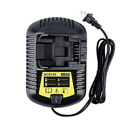 Lasica DCB105 12V MAX 20V MAX Charger Replacement for Dewalt Charger DCB101 DCB107 DCB112 DCB115 DCB100 DCB119 12VOLT 20VOLT Lithium-Ion Battery DCB180 DCB120 DCB127 DCB200 DCB206 DCB205 DCB201 DCB203