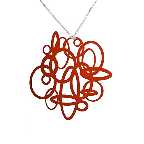 Red Circle Pop-Out Pendant DIY Jewelry (Powder Coated Pendant)