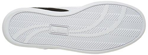Sneah Suede Lthr Fashion Sneaker para hombre, Negro / Blanco, 10.5 M US