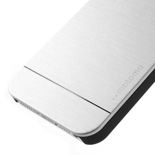 Apple iPhone SE 5 5S Motomo Metall Hard Case Aluminium Cover Shell Brushed Silber