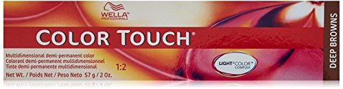 Wella Touch Multidimensional Demi-Permanent Hair Color, 4/71 Medium Brown/Brown Ash, 2 Ounce