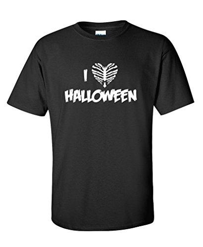 I Love Halloween Novelty Graphic Tee Costume Funny Halloween T-Shirt 4XLT Black]()