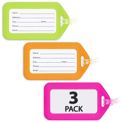MIFFLIN Luggage Tags , Bag Tag for Baggage, Suitcase Tags Bu