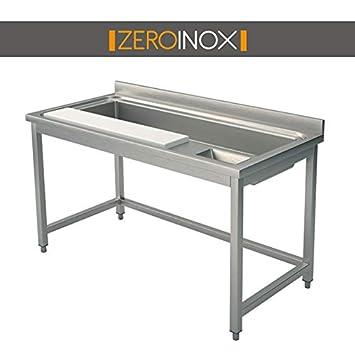 ZeroInox Mesa para preparación Verduras con Tabla de Cortar ...