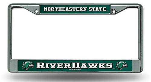 Northeastern State RiverHawks LBL Chrome Metal License Plate Tag Frame Cover University of