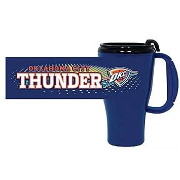 Oklahoma City Thunder 16-Ounce Plastic Roadster Travel Mug
