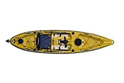 110R-Y-D Riot Kayaks Mako 12' Fishing Yak with Impulse Pedal Drive, Deluxe, Yellow by Kayak Distribution