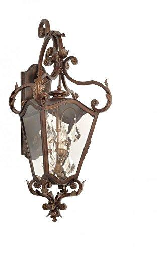 Bronze Lighting Corbett (Corbett-Lighting 75-22 ST.Tropez 3-Light Wall Lantern, Antique Bronze Finish)