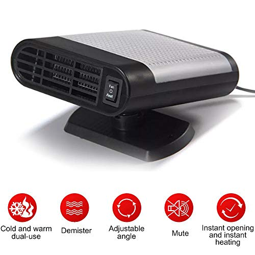 Portable Car Heater Defroster,Womdee 12V 150W Windshield Defogger Defroster,Car Heaters That Plug Into Cigarette,2 in 1 Auto Heater/Cooling Fan Car Windscreen Demister Heater for Easy Snow Removal (Heater That Plugs Into Cigarette Lighter In Car)