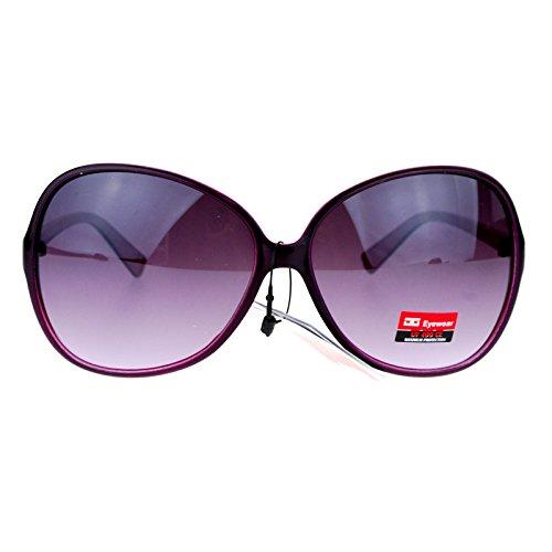 CG Eyewear Womens Oversized Thin Plastic Oversize Butterfly Sunglasses Purple Oversized Womens Plastic Sunglasses