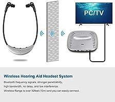 Auriculares inalámbricos de TV Bluetooth para Smart TV con Auriculares Extra Suaves, Soporte RCA y entradas de 3.5MM / Volumen y Ajuste del Equilibrio del tracto Vocal: Amazon.es: Electrónica