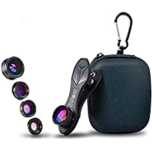 SimpLenz 5 in 1 Clip On Phone Lenses   Cellphone Camera Kit For iPhone, Samsung Galaxy & Most Smartphones & Tablets   Fun Photography With Universal Fish Eye, Wide Angle, CPL, & Macro Clip-on Lens