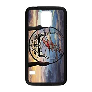 Hoomin Grateful Dead Dream Catcher Sunset Samsung Galaxy S5 Cell Phone Cases Cover Popular Gifts(Laster Technology)