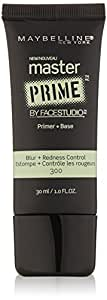 Maybelline Face Studio Master Prime Primer, Blur + Redness Control, 1 Fluid Ounce