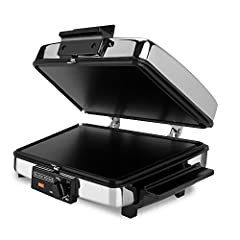 Satisfy everyone's appetites with the BLACK+DECKER 3-in-1 Waffle Maker! One side of the reversible cooking plates features deep grids so you can make four large, fluffy waffles that are prime for your favorite toppings. The other side of the plates i...