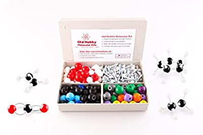 Organic Chemistry Model Kit (239 pieces) with Instructional Guide. Stereochemistry & Chemistry Structure Kit for Teachers, Students and Young Scientists with Atoms, Bonds & Orbitals