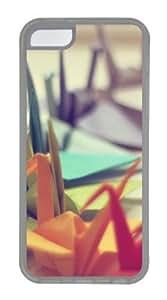Colorful Origami Custom iPhone 5C Case Cover TPU Transparent