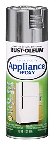 Rust-Oleum 7887830 Specialty Appliance Epoxy Spray Paint, 12 Oz Aerosol, 7 Sq-Ft/Can, Stainless Steel, 12-Ounce