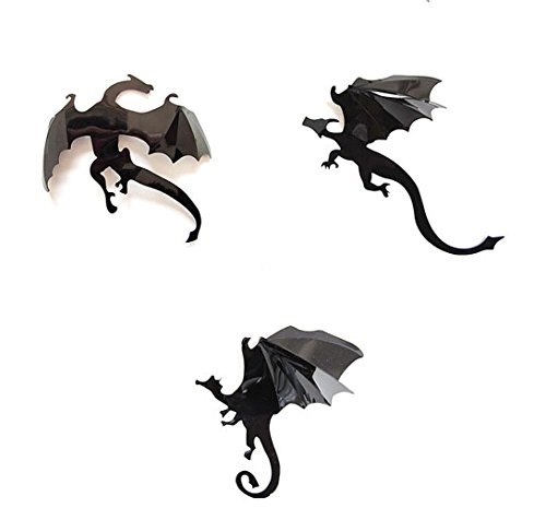 Halloween Stickers , Freeheart 2017 Halloween Gothic Wallpaper Stickers Game Power Limited 3D Dragon Decoration