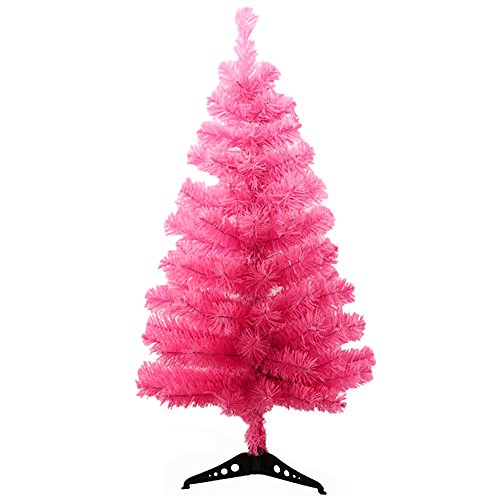 StillCool 2ft / 60cm Artificial Christmas Tree Christmas Party Home Decoration -- Pink