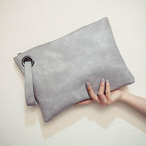 7ef2e410375e Moonnight Store Fashion solid women's clutch bag leather women envelope bag  clutch evening bag female Clutches Handbag Immediately shipping (beige - ...
