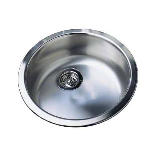 (Blanco 500-336 Rondo 18 1/8-Inch Bar Sink, Satin Polished Finish)