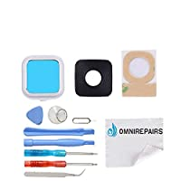 OmniRepairs-Rear Facing Glass Camera Lens Frame Assembly Replacement For Motorola Moto Z Play XT1635 and Moto Z XT1650 XT165 with Pre-installed Adhesive and Repair Toolkit
