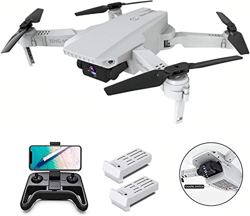 B-Qtech Drone with Camera 4K for Kids & Beginners, WiFi FPV Live Video 2 Batteries Long Flying Foldable RC Quadcopter…