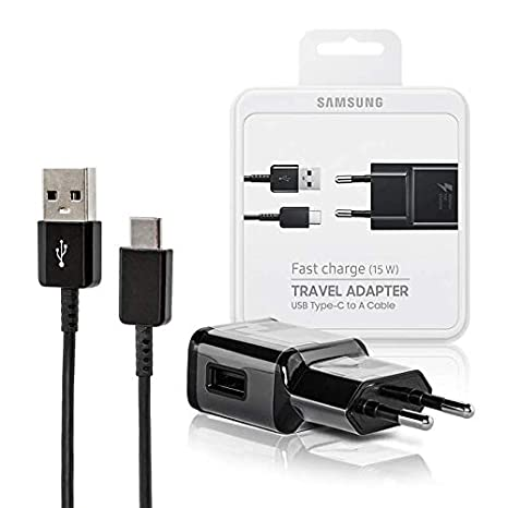 Cargador Original Carga Rápida 15W EP-TA20EBE + Cable USB Tipo C Compatible con Samsung