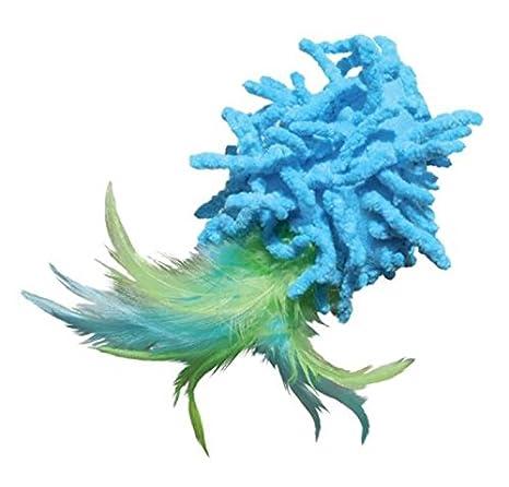Kong Moppy bola con plumas gato juguete: Amazon.es: Productos para mascotas