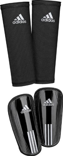 adidas Pro Lite US Shin Guard, Black/Metallic Silver, Medium