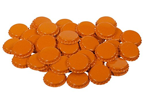 orange beer bottle caps - 7
