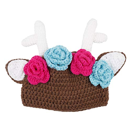 Subesty Baby Girls Boy Knit Hat Toddler Christmas Reindeer Crochet Photography Props Beanie Hat