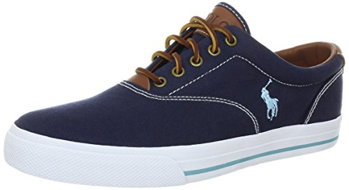 Polo Ralph Lauren Men's Vaughn Fashion Sneaker, Navy, 10.5 D US