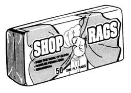 UNIFIRST CORP SHOP RAGS 25 PER BUNDLE RAGS-COTTON \